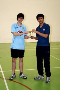 Fionn O'Sullivan & Rishal Patel - proud winners of the U18 grade