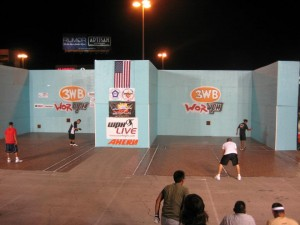 The courts in Vegas - functional Day and Night. What a sight!