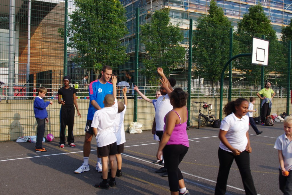Local kids give it a go with the Great Britain Team