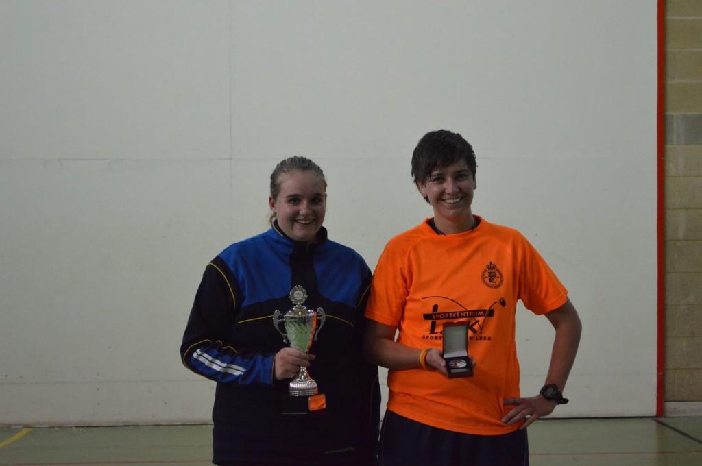 Geke De Boer, this year's Champion, with fellow Dutch teammate and runner-up, Miranda Scheffer