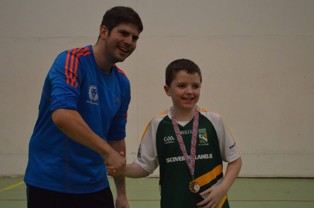 Mark Doyle receives his u10 title. What a match!