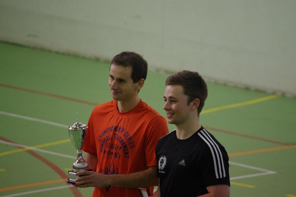 Klym, this year's champion, with GB's Luke Thomson, runner-up