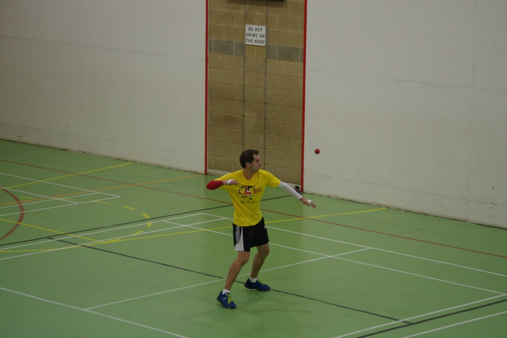 Klym serves for the match in the Open final. Nice shirt!