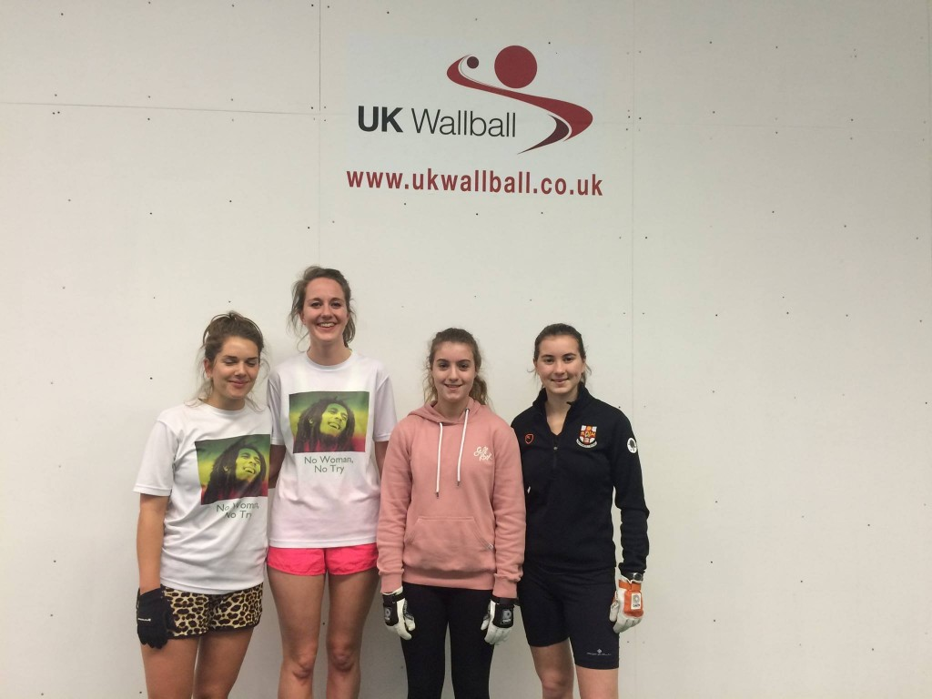 Success on the right for Louise and Katie, over Sarah & Sarinka