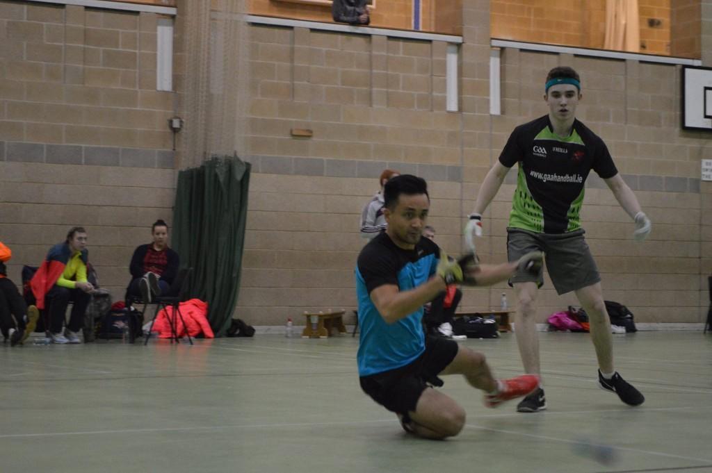 John makes a winning dive against Daniel Kavanagh