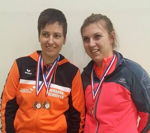 Winners in the doubles - Harmke and Miranda - who also won the singles